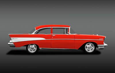 Photograph - 1957 Chevrolet Bel Air   -  57chevy2doorpostsedanfa184115 by Frank J Benz