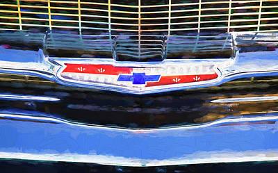 Photograph - 1957 Chevrolet Bel Air 283 Emblem by Rich Franco