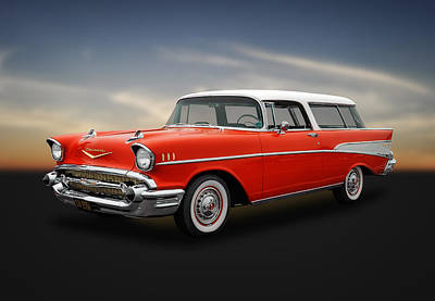 Photograph - 1957 Chevrolet Bel Air Nomad Wagon by Frank J Benz