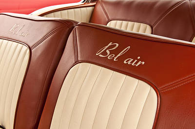 Photograph - 1957 Chevrolet Bel Air Seats by Glenn Gordon