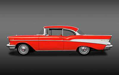Photograph - 1957 Chevrolet Bel Air Sport Coupe   -  1957belairsportcoupefa172041 by Frank J Benz