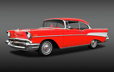 Photograph - 1957 Chevrolet Bel Air Sport Coupe  -  1957chevroletbascfa172032 by Frank J Benz