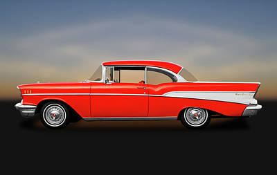 Photograph - 1957 Chevrolet Bel Air Sport Coupe   -  1957chevybelaircoupe172041 by Frank J Benz