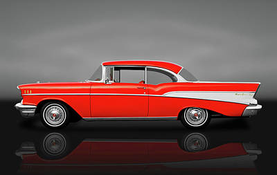 Photograph - 1957 Chevrolet Bel Air Sport Coupe   -  1957chevybelairscreflect172041 by Frank J Benz