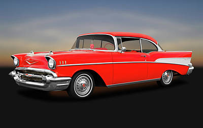 Photograph - 1957 Chevrolet Bel Air Sport Coupe  -  1957chevybelairsportcoupe172032 by Frank J Benz