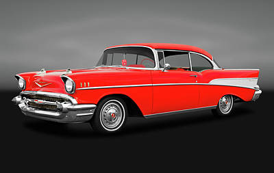 Photograph - 1957 Chevrolet Bel Air Sport Coupe  -  57chevybelairscgry172032 by Frank J Benz