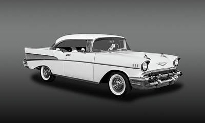 Photograph - 1957 Chevrolet Bel Air Sport Coupe  - 57chevbablk105 by Frank J Benz