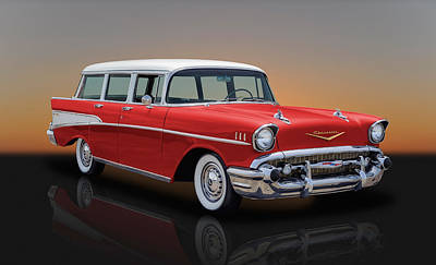 Photograph - 1957 Chevrolet Bel Air Townsman Station Wagon by Frank J Benz