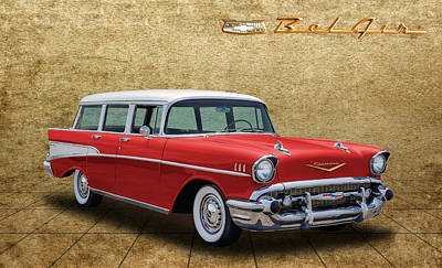 Photograph - 1957 Chevrolet Bel Air Townsman Wagon by Frank J Benz