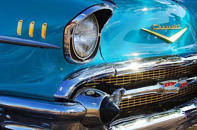 1957 Chevrolet Belair Grille Art Print by Jill Reger