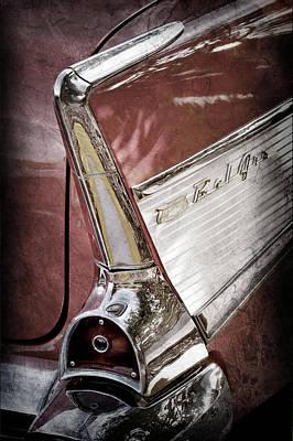 Photograph - 1957 Chevrolet Belair Taillight Emblem -0818ac by Jill Reger