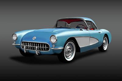 Photograph - 1957 Chevrolet C1 Corvette  -  1957c1vettehdtpconvertfa184052 by Frank J Benz