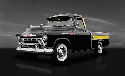 1957 Chevrolet Cameo Truck - V2 Art Print by Frank J Benz