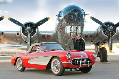 Photograph - 1957 Chevrolet Corvette - Winkler 0327c by Jill Reger