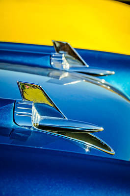 Photograph - 1957 Chevrolet Hood Ornament 2 by Jill Reger