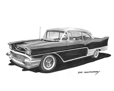 Painting - 1957 Chevrolet Morrocco One Off by Jack Pumphrey