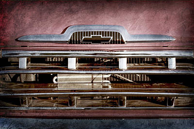 Classic Chevy Truck Photograph - 1957 Chevrolet Pickup Truck Grille Emblem -0324ac by Jill Reger