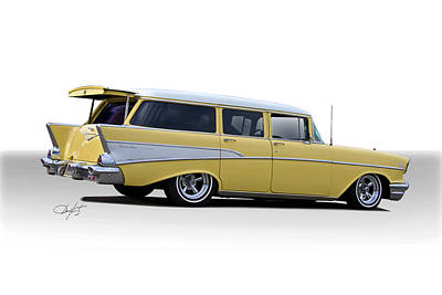 Winter Animals Royalty Free Images - 1957 Chevrolet Townsman Station Wagon Royalty-Free Image by Dave Koontz
