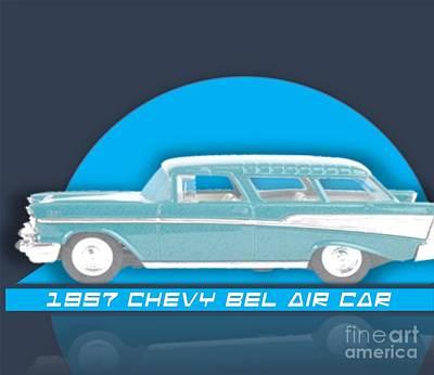 Painting - 1957 Chevy Bel Air by Belinda Threeths
