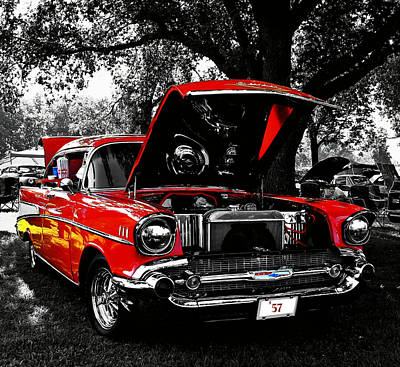 Photograph - 1957 Chevy Bel Air by Chris Berry