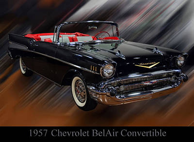 Photograph - 1957 Chevy Bel Air Convertible by Chris Flees