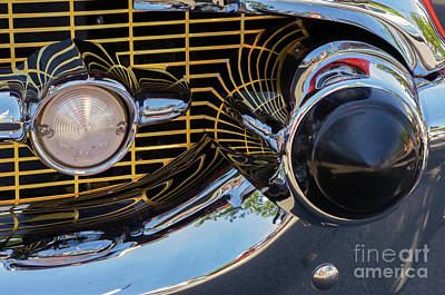 Photograph - 1957 Chevy Bel Air Grill Abstract 2 by Rick Bures