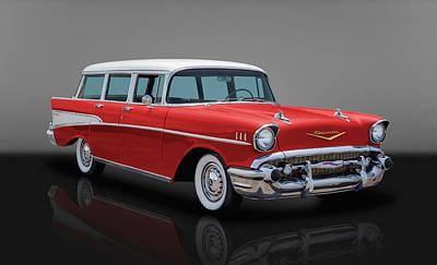 Photograph - 1957 Chevy Bel Air Townsman Wagon by Frank J Benz
