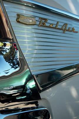 Photograph - 1957 Chevy Belair Fender Emblem by Jani Freimann