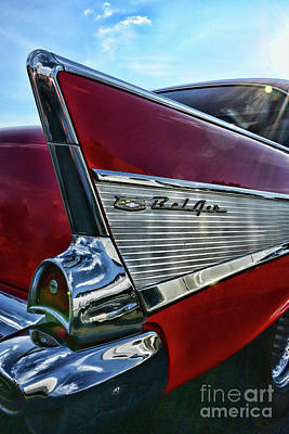 Photograph - 1957 Chevy Belair In Your Face by Paul Ward