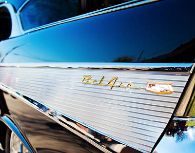 Photograph - 1957 Chevy Blk Silver Fin by Rospotte Photography