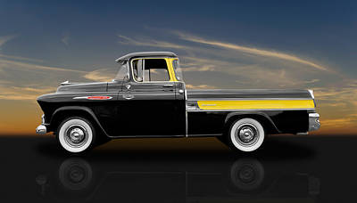 1957 Chevy Cameo Pickup - V1 Art Print by Frank J Benz