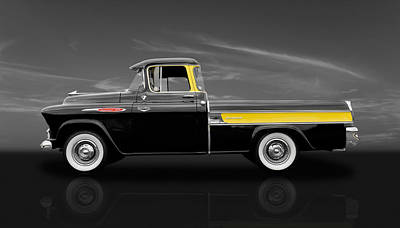 1957 Chevy Cameo Pickup - V2 Art Print by Frank J Benz