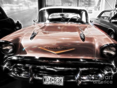 Photograph - 1957 Chevy  by Peggy Franz