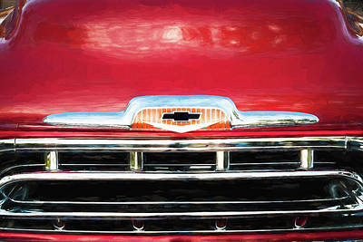 Photograph -  1957 Chevy Pick Up Truck 3100 Series 003  by Rich Franco