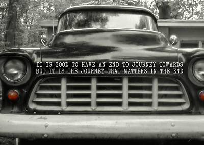 Truck Photograph - 1957 Chevy Quote by JAMART Photography