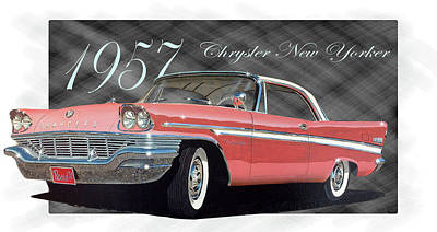 Painting - 1957 Chrysler New Yorker by Richard Mordecki