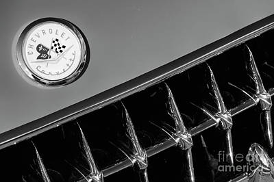 Photograph - 1957 Corvette Grill And Emblem by Dennis Hedberg