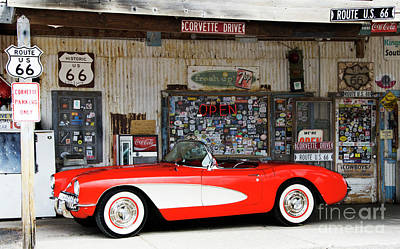 Photograph - 1957 Corvette Hackberry Arizona by Bob Christopher