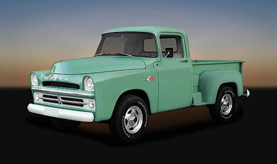 Photograph - 1957 Dodge And 1993 Chevy Z71 Blended Pickup Truck  -  1957dodge93z710157 by Frank J Benz