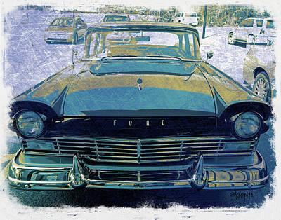 Photograph - 1957 Ford Fairlane Classic Car - Cruising The Coast by Rebecca Korpita