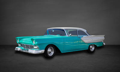1957 Ford Custom Photograph - 1957 Ford Fairlane Club Victoria - 1 by Frank J Benz
