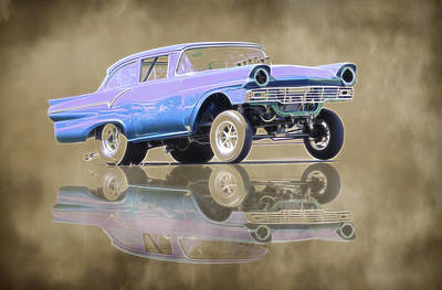Photograph - 1957 Ford Gasser by Steve McKinzie