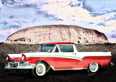 1957 Ford Ranchero 1st Generation Art Print by Chas Sinklier