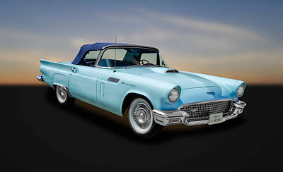 Photograph - 1957 Ford Thunderbird Convertible  -  57fdbridcv890 by Frank J Benz