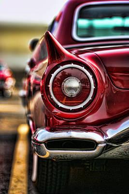 1957 Ford Thunderbird Red Convertible Original by Gordon Dean II
