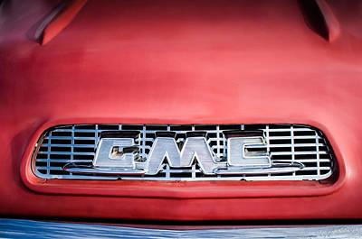 Photograph - 1957 Gmc Pickup Truck Grille Emblem -0329c1 by Jill Reger