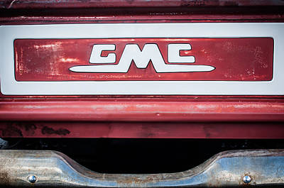 Photograph - 1957 Gmc Pickup Truck Tail Gate Emblem -0272c1 by Jill Reger