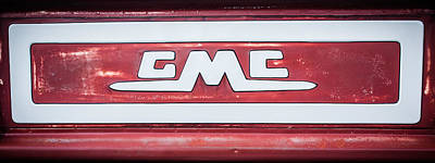 Photograph - 1957 Gmc Pickup Truck Tail Gate Emblem -0272c2 by Jill Reger