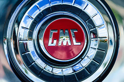 Photograph - 1957 Gmc Pickup Truck Wheel Emblem -0272c by Jill Reger