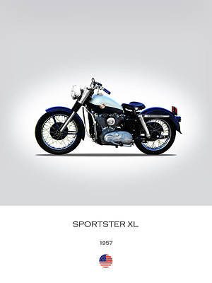 Sportster Photograph - 1957 Harley Sportster Xl by Mark Rogan